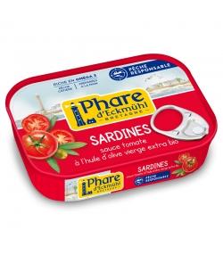 Sardines à la sauce tomate & huile d'olive BIO - 135g - Phare d'Eckmühl