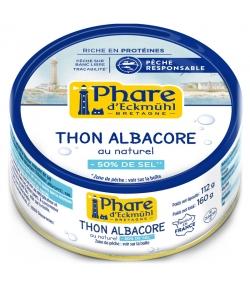 Thon albacore au naturel à teneur réduite en sel - 160g - Phare d'Eckmühl