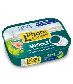 Sardines au tartare d'algues & huile d'olive BIO - 135g - Phare d'Eckmühl