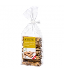Crackers aux graines de chanvre BIO - 125g - Biofarm