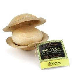 Savon ayurvédique adoucissant naturel basilic sacré, neem, palmarosa & ylang-ylang - 90g - Karawan