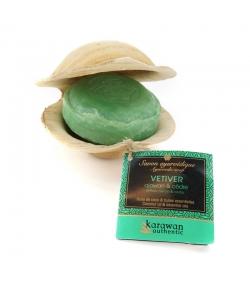 Savon ayurvédique tonifiant naturel vétiver, ajowan & cèdre - 90g - Karawan