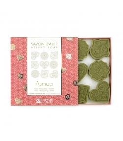 Savons d'Alep Asmaa naturel rose, ylang-ylang & violette - 9x10g - Karawan