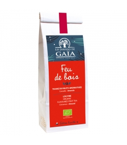 Feu de bois tisane de fruits aromatisée cannelle & amande BIO - 100g - Les Jardins de Gaïa