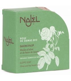 Savon d'Alep rose de Damas, huile d'olive & baies de laurier  BIO - 100g - Najel