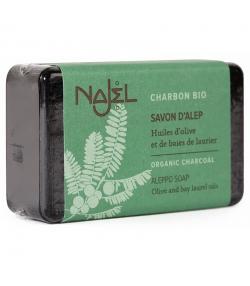 Savon d'Alep charbon, huile d'olive & baies de laurier - 100g - Najel