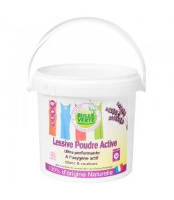 Lessive poudre active écologique pour linge blanc & couleurs lavandin - 50 lavages - 2kg - Bulle Verte