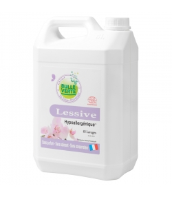 Lessive liquide hypoallergénique écologique sans parfum - 83 lavages - 5l - Bulle Verte