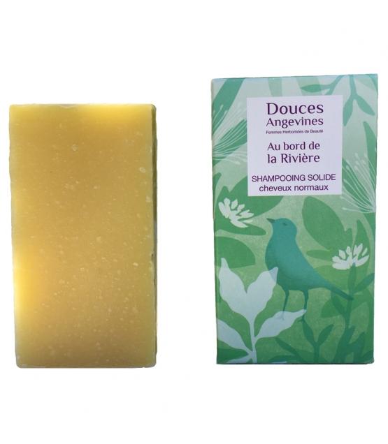 Shampooing solide cheveux normaux BIO ricin & pamplemousse - Au Bord de la Rivière - 100g - Douces Angevines