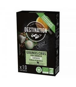 Capsules de café Grands Crus Pur Arabica BIO - 10x5,5g - Destination