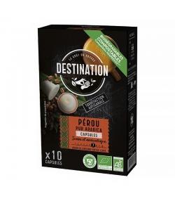 Capsules de café Pérou Pur Arabica BIO - 10x5,5g - Destination