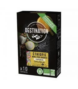 Capsules de café Moka Éthiopie Pur Arabica BIO - 10x5,5g - Destination