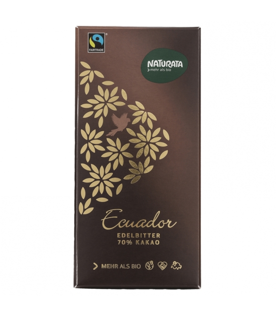 Chocolat noir 70% BIO Équateur - 100g - Naturata