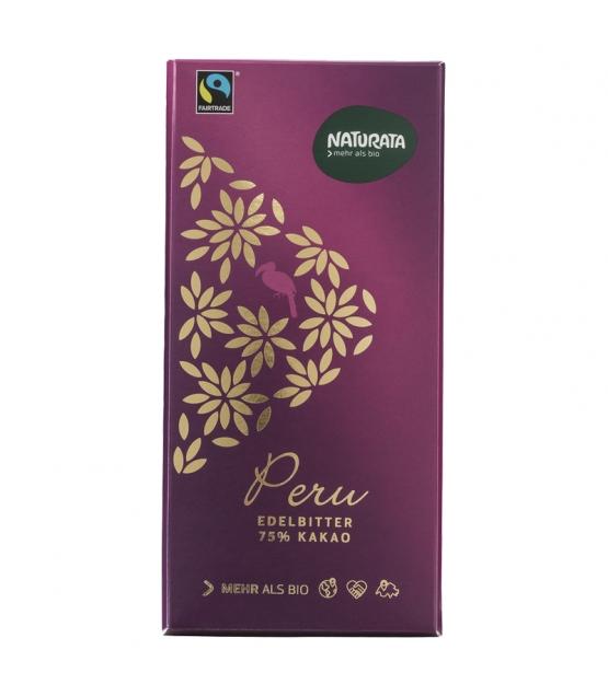 Chocolat noir 75% BIO Pérou - 100g - Naturata