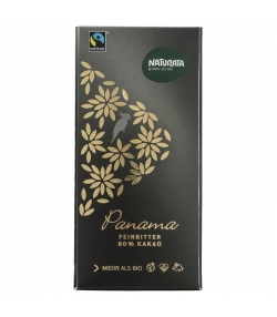Chocolat noir 80% BIO Panama - 100g - Naturata