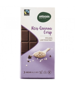 Chocolat spécial riz & quinoa soufflés BIO - 100g - Naturata