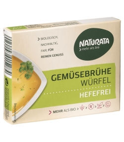 Cubes de bouillon de légumes sans levure BIO - 6 cubes - Naturata