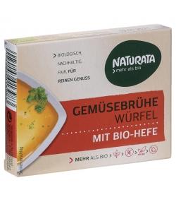 Cubes de bouillon de légumes avec levure BIO - 6 cubes - Naturata