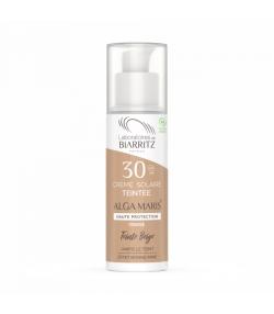 Crème solaire visage teintée beige BIO IP 30 algue rouge - 50ml - Laboratoires de Biarritz Alga Maris