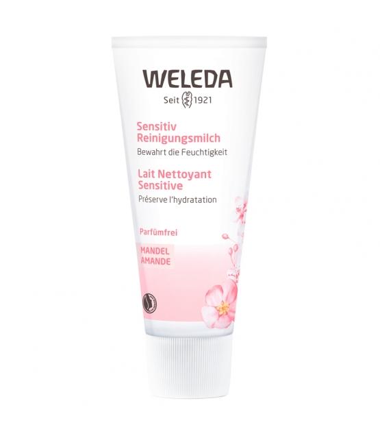 Lait nettoyant sensitive BIO amande - 75ml - Weleda