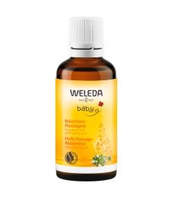 Huile massage abdominal bébé BIO amande - 50ml - Weleda
