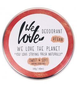 Natürliche Deo Creme Sweet & Soft grünen Blättern, Mandel & weißer Pfingstrose - 48g - We Love The Planet
