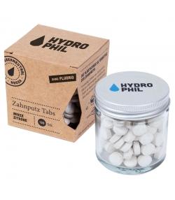 Pastilles de dentifrice naturelles menthe & citron sans fluor - 130 pièces - Hydrophil