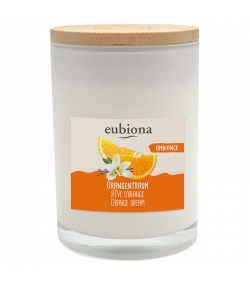 """Bougie parfumée orange & vanille """"Rêves d'orange"""" en cire de colza naturelle - 1 pièce - Eubiona"""