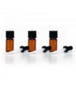 Bouteille en verre brun 1ml avec pipette - 3 pièces - Farfalla