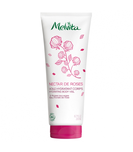 BIO-Körpermilch hautzart und feuchtigkeitsspendend 3 Wildrosen - 200ml - Melvita Nectar de Roses