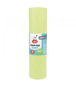 Essuie-tout lavable Vert - 12 pièces - La droguerie écologique