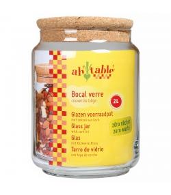 Glasbehälter 2l mit Korkdeckel - 1 Stück - ah table !