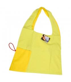 Sac origami jaune & vert pomme en coton BIO - 1 pièce - ah table !