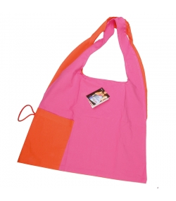 Sac origami rose & orange en coton BIO - 1 pièce - ah table !