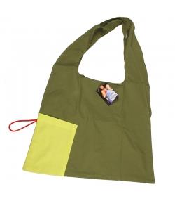 Origami-Beutel Apfelgrün & Olivengrün aus Bio-Baumwolle - 1 Stück - ah table !
