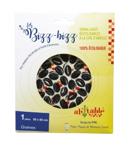Wiederverwendbare Verpackungen mit Bio-Bienenwachs Körner - Grösse XL - 1 Stück - ah table ! Les Bizz Bizz