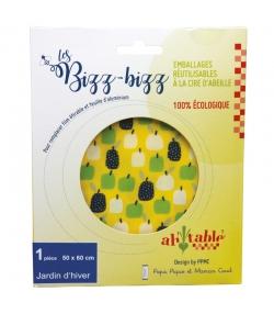 Emballage réutilisable à la cire d'abeille bio jardin d'hiver - Taille XL - 1 pièce - ah table ! Les Bizz Bizz