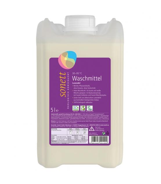 Ökologisches Flüssigwaschmittel Lavendel - 67 Waschgänge - 5l - Sonett