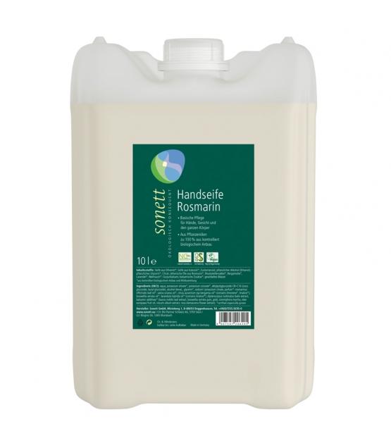 Ökologische flüssige Seife für Hände, Gesicht & Körper Rosmarin - 10l - Sonett