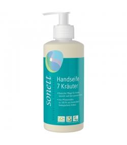 Savon liquide mains, visage & corps écologique 7 plantes - 300ml - Sonett