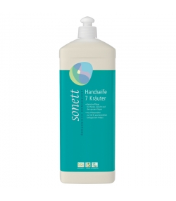 Ökologische flüssige Seife für Hände, Gesicht & Körper 7 Kräuter - 1l - Sonett
