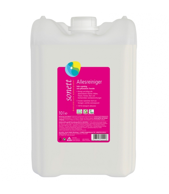 Nettoyant tout usage écologique orange & lemongrass - 10l - Sonett