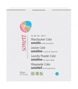 Ökologisches Waschpulver Color sensitiv ohne Duft - 250 Waschgänge - 10kg - Sonett