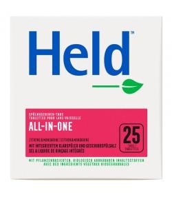 Ökologische Spülmaschinen-Tabs All-in-one Zitrone - 25 Waschgänge - 500g - Held