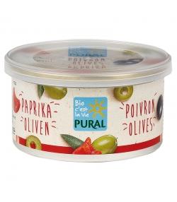 Pâté végétal aux poivrons & olives BIO - 125g - Pural