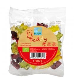 Bonbons oursons aux fruits BIO avec gélatine - Teddy - 100g - Pural