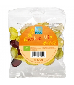 Bonbons aux fruits exotiques BIO avec gélatine - Exotic Mix - 100g - Pural