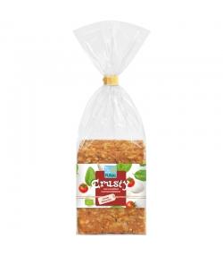 Pain croustillant au blé, tomate & mozzarella BIO - Crusty - 200g - Pural