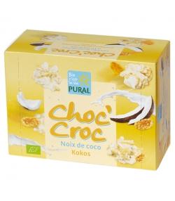 Cornflakes au chocolat blanc & noix de coco BIO - Choc'Croc - 100g - Pural