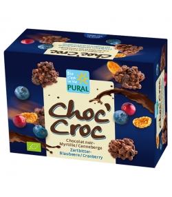 Cornflakes au chocolat noir, canneberge & myrtilles BIO - Choc'Croc - 100g - Pural